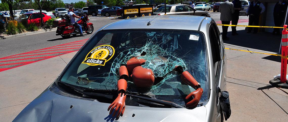 In A Car Crash Wearing A Seat Belt